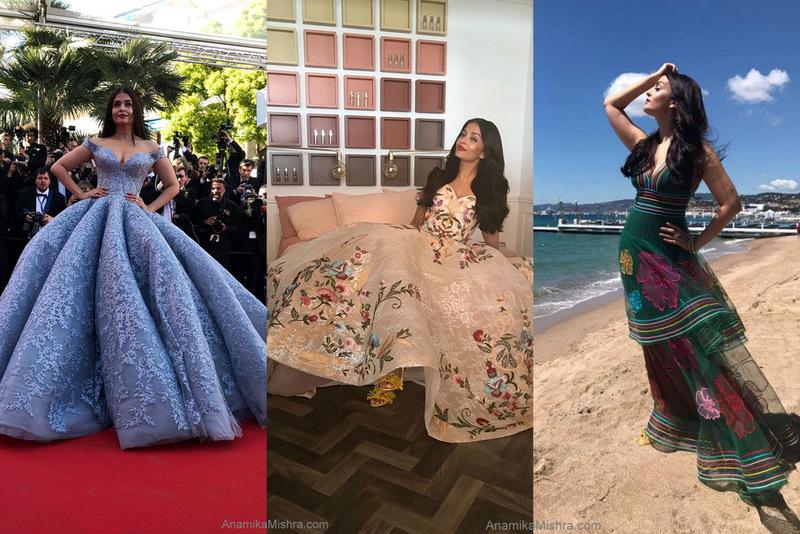 Aishwarya Rai Bachchan Cannes 2017 Outfits